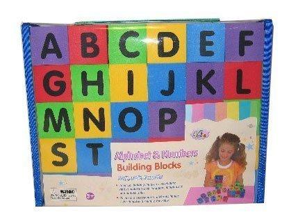 Verdes 30 Pcs Alphabet & Numbers Foam Blocks