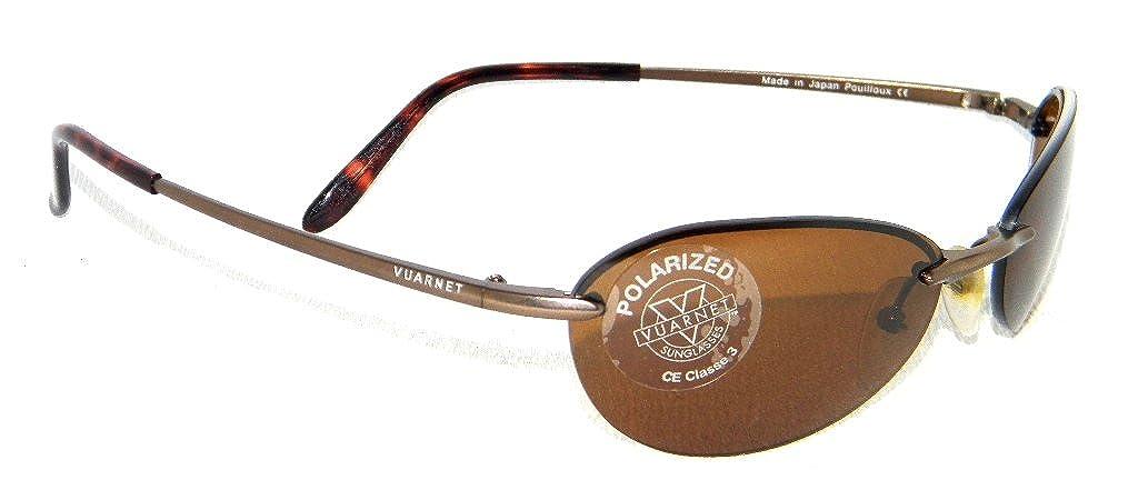 Gafas de sol Vuarnet 195 nuevas Oval Marrón + cristales marrón Polarizadas: Amazon.es: Ropa y accesorios