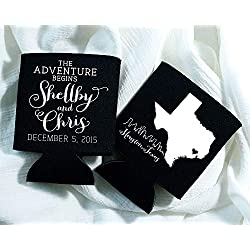 State Wedding Favors Wedding Favors Let The Adventure Begin Wedding Favor Choose Your Own State Skyline Wedding Favors Can Cooler