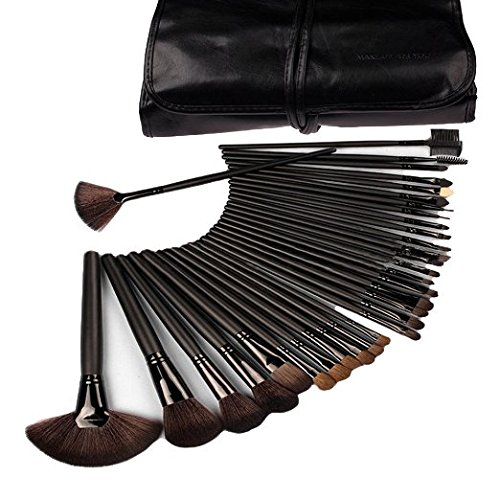 klaren-32-pcs-black-rod-makeup-brush-cosmetic-set-kit-with-case-black