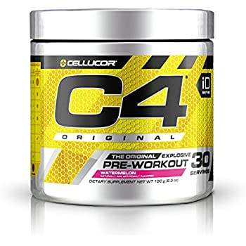 Cellucor C4 Original Pre Workout Powder Energy Drink w/Creatine, Nitric Oxide & Beta Alanine, Watermelon, 30 Servings