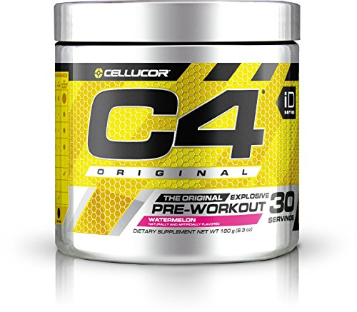 Pre Training (Cellucor C4 Original Pre Workout Powder Energy Drink w/Creatine, Nitric Oxide & Beta Alanine, Watermelon, 30 Servings)