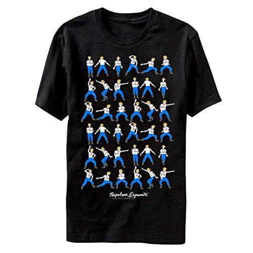 Napoleon Dynamite Men's Napoleon Dynamite Dance Moves Graphic T-Shirt, Black, Medium