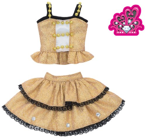 Rika -chan Harajuku Girls School Corde Dress Set DIAMOND QUEEN Gold