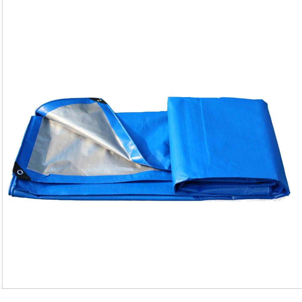 PENGFEI オーニング 防水 両面 雨布 防塵の トラック シェード 防風 植物 日焼け止め 耐腐食性、 ブルー+グレー 10サイズ ( サイズ さいず : 3 x 5m ) B07C9HRJ2L 3 x 5m  3 x 5m