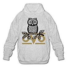 OVO Owl Hoodies For Men Size XL Ash