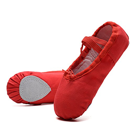 KONHILL-Ballet-Slippers-Shoes-Canvas-Split-Sole-Dance-Flat-Yoga-Shoes-For-Girls-ToddlerLittle-KidBig-Kid-Red-28