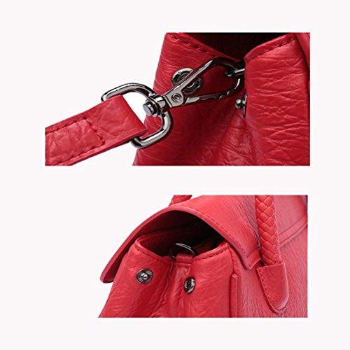 En Dames À Bandoulière Sac Cuir Red Mode Main w4Enqx