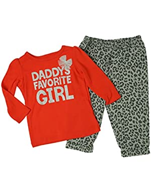 Girls 2 Pc Pants Set Daddy's Favorite Girl
