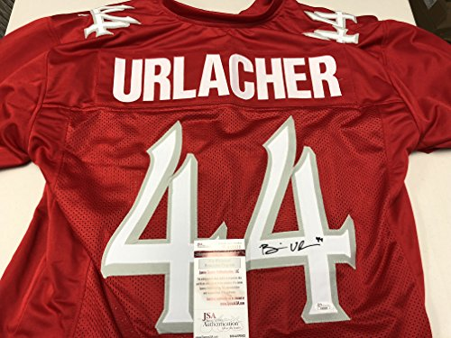Brian Urlacher Autographed Signed New Mexico Lobos Custom Jersey JSA Witnessed COA & Hologram W/Photo From Signing - Brian Urlacher Autographed Jersey
