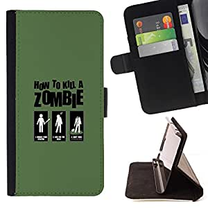 Momo Phone Case / Flip Funda de Cuero Case Cover - Zombie Killing Guide - Funny - HTC Desire 820