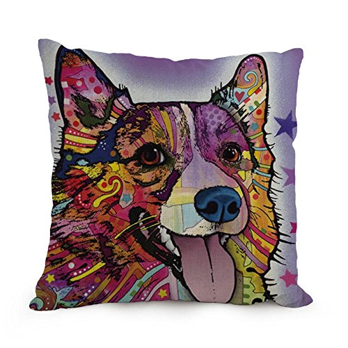 [Artistdecor Dog Abstract Art Pillow Covers 18 X 18 Inches / 45 By 45 Cm Best Choice For Bedroom,dance Room,couch,car,home,dining Room With Double] (Bull Rider Costume Toddler)