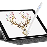 Dewang Active Capacitive Stylus Pencil, Digital Pen Precision Sensitivity Fine Point for Capacitive Touch Screen Devices Smartphone & Tablet Drawing Writing (White)