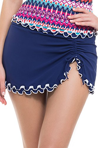 Profile by Gottex Women's Tequila Skirted Hipster Bikini Bottom Ink 12