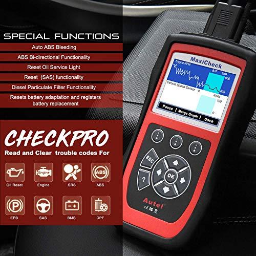 Autel MaxiCheck Pro Diagnostic Tool for ABS Brake Auto Bleed, Oil Service, ABS, SRS, BMS, DPF, EPB Service, SAS, Oil Light/Service Reset Scanner by Autel (Image #7)