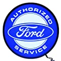 """Neonetics Ford Authorized service Backlit LED Lighted Sign, 15"""""""