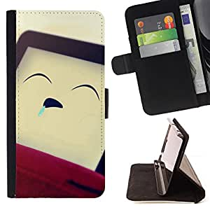 DEVIL CASE - FOR Samsung Galaxy Core Prime - Funny Sleeping Man - Style PU Leather Case Wallet Flip Stand Flap Closure Cover