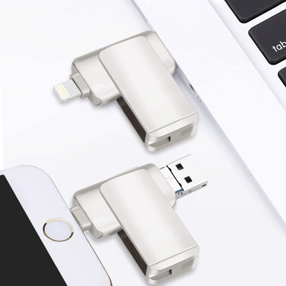 high-Speed Data Transmission Stable Plug and Play OMJNH Flash Drive Android no Drive Suitable for Apple in-situ chip Security Computer Three-use Metal U Disk