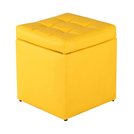 Cool Qjfjd Storage Stool Pu Folding Stool Pouffe Ottoman Chairs Short Links Chair Design For Home Short Linksinfo