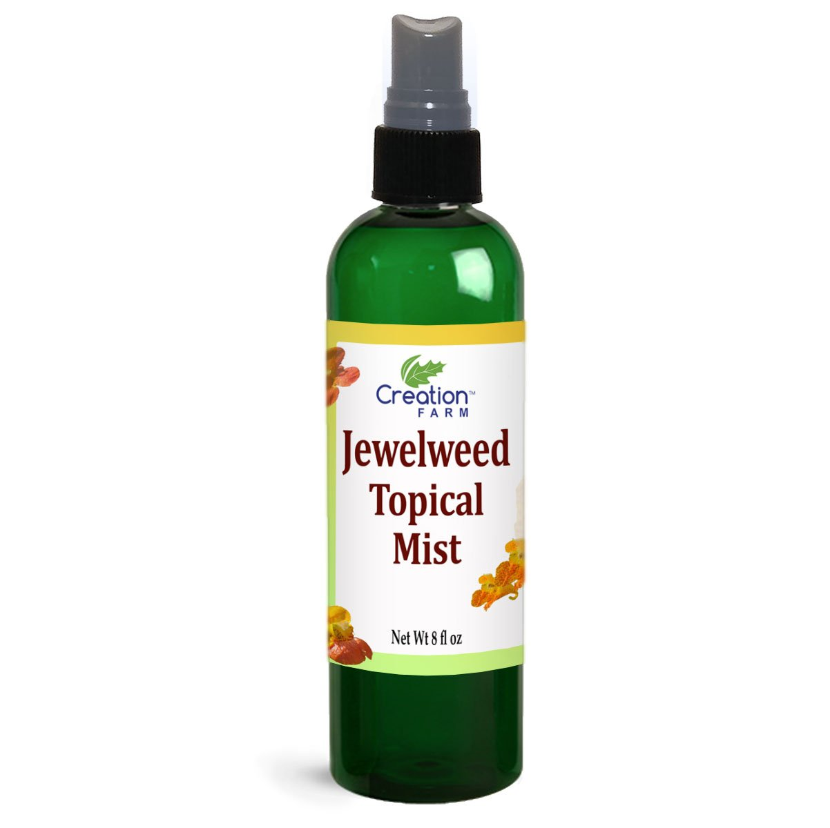 Jewelweed Spray - Itchy Skin Relief Remedy for Poison Ivy Oak LARGE 8 OZ SIZE Allergy, Bug Bites, Bee Stings, Rash - All Natural Botanical base of Plant Extracts