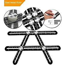 [Patrocinado] Multi Ángulo regla de medición Ultimate angleizer plantilla herramienta universal angularizer regla Upgraded aleación de aluminio Multi Funcional regla
