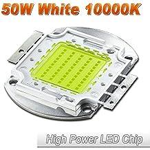 Hontiey High Power LED Chip 50W Cool White Light 10000K-15000K Cold Bulbs 50 Watt Beads DIY Spotlights Floodlight COB Integration Lamp SMD