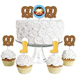 Oktoberfest - Dessert Cupcake Toppers - German Beer Festival Clear Treat Picks - Set of 24