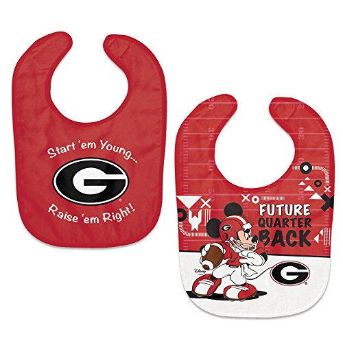 NCAA Georgia Bulldogs and Mickey Disney 2-Pack All-Pro Adjustable Baby Bibs