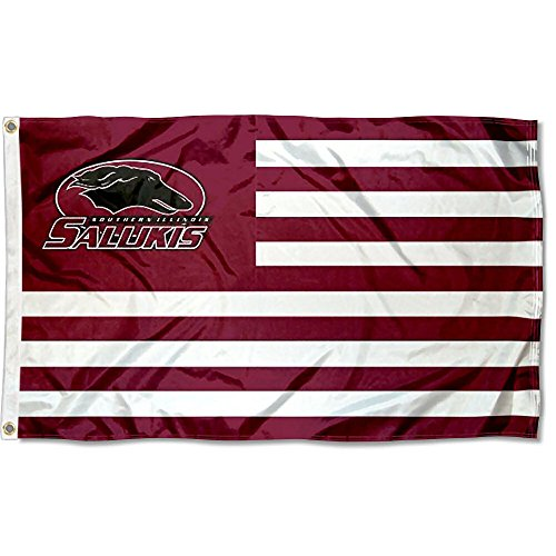 Southern Illinois Salukies Stars and Stripes Nation Flag