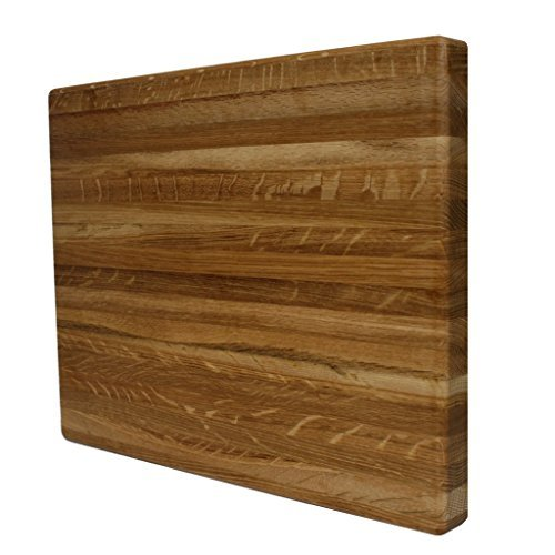 Kobi Blocks White Oak Edge Grain Butcher Block Wood Cutting Board 18'' X 24'' X 1''