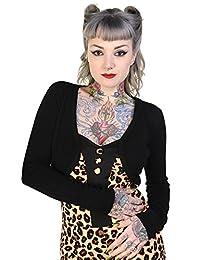 Banned Womens Vintage Retro Rockabilly Bolero Cardigan