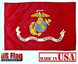 Cheap US Flag Factory 3'x5′ US Marine Corps Flag Outdoor SolarMax Nylon (3'x5′) – Made in America