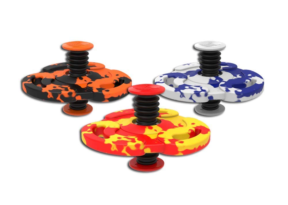 Spinnobi Original - The Bouncing Kids Toys. in & Outdoor Toys. Yard Games for Boy Toys and Girls Toys. Cool Fidget Spinners. 3 Pack (Tornado) by Spinnobi