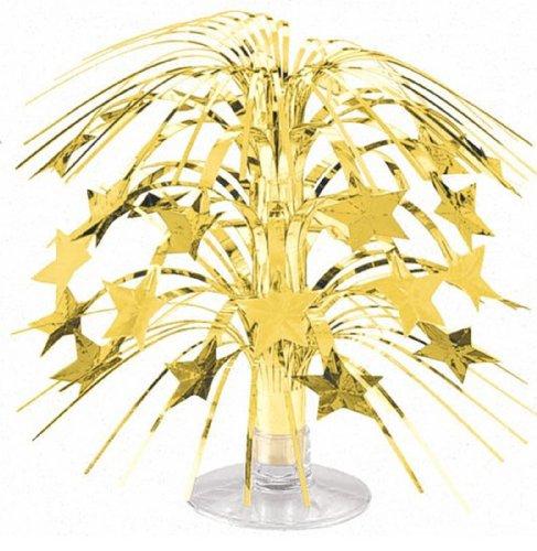 Party Friendly Sparkling Star Mini Cascade Centerpiece Decoration, Silver, Foil , 8