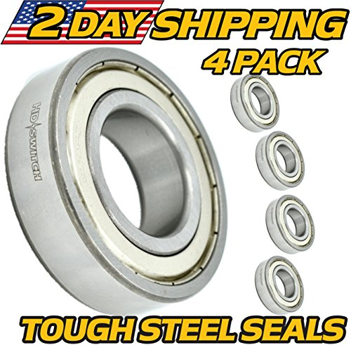 (4 Pack) Deck Spindle Bearings Bad Boy Mowers 037-6015-50, 037-6023-00,  OUTLAW, ZT, CZT, PUP, w/HIGH TEMP GREASE & STEEL SEALS, BadBoy, HD Switch