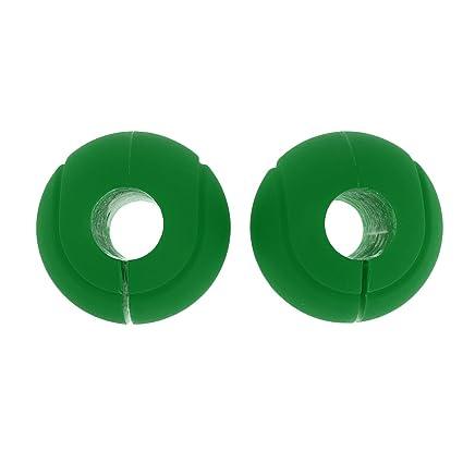 Sharplace 1 Set de Agarre de Forma Pelota para Mancuernas Hecho de Silicona - Verde