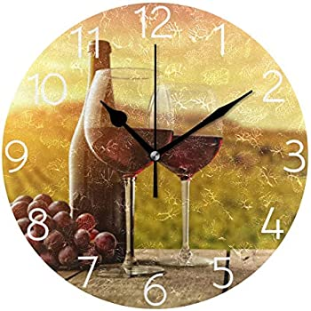 Amazon Com Antique Looking Fine Wines Wine Tasting Clock
