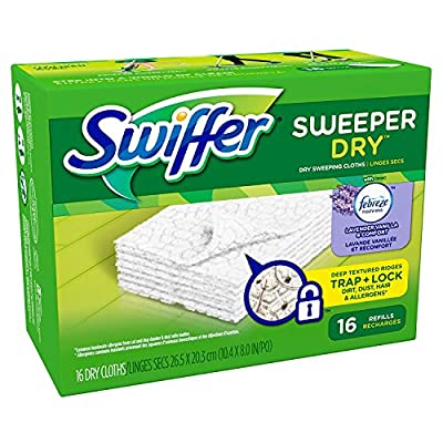 Swiffer Sweeper Dry Cloth Refill 16 Count Boxes (Pack of 12)