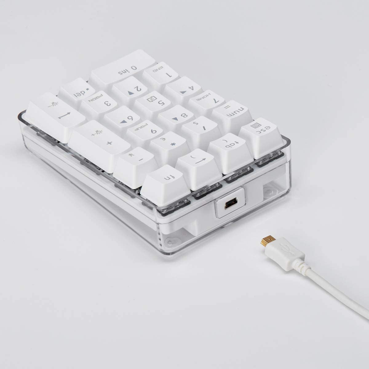 Mechanical Numeric Keypad Brown Switch Gaming Keypad 21 Keys Mini Numpad Portable Keypad Wired Number Pad for iMac Laptop PC MacBook Notebook
