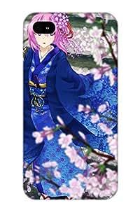 Georgemunoz Anti-scratch And Shatterproof Anime Touhou Phone Case For Iphone 4/4s/ High Quality Tpu Case