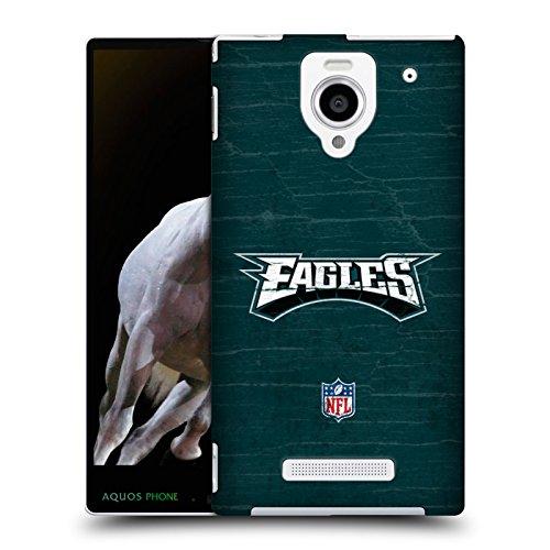 Official NFL Distressed Philadelphia Eagles Logo Hard Back Case for Sharp...