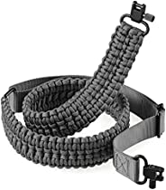 AOOK Rifle Sling with Swivels 2 Point Paracord Shotgun Sling with Quick Adjustable Length Rifle Strap for Outd