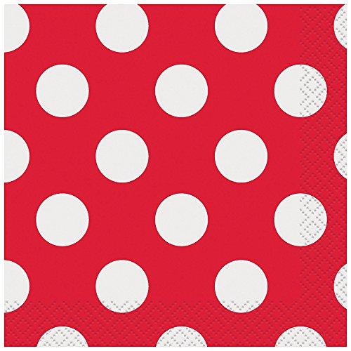 Polka Dot Beverage Napkins, 10