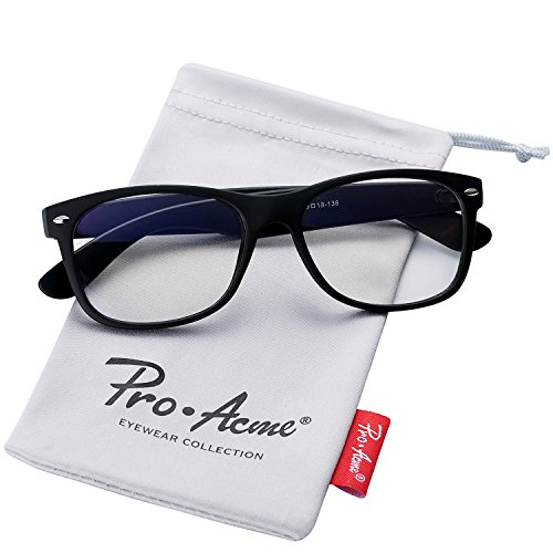 Pro Acme Retro 80' Wayfarer Clear Lens Glasses Vintage Hipster Nerd Eyeglasses (Matte - For Eye Frames Men