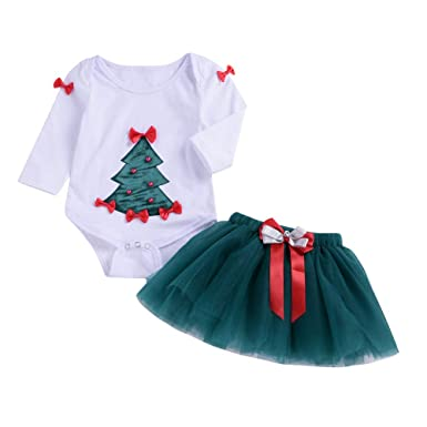6-9months Baby Girl Christmas Romper One-pieces Clothing, Shoes & Accessories