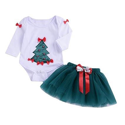 Amazon.com: 2018 New!!😊Infant Baby Girl Christmas Outfits Set ...