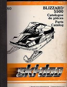 1980 ski doo blizzard 5500 snowmobile parts manual 269 rh amazon com 1981 Ski-Doo Blizzard 1980 ski-doo service manual