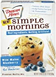 Duncan Hines Simple Mornings Muffin Mix, Wild Maine Blueberry, 17.8 Ounce (Pack of 12)