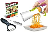 Newest & Improved Spiralizer Vegetable Slicer Complete Bundle - Best Vegetable Cutter - Zucchini Pasta Noodle Spaghetti Maker