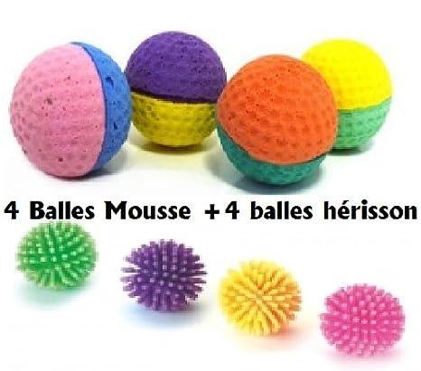 Parte pelotas para gatos, 4 A Los Arañazos pelotas, 4 pelotas de espuma: Amazon.es: Productos para mascotas